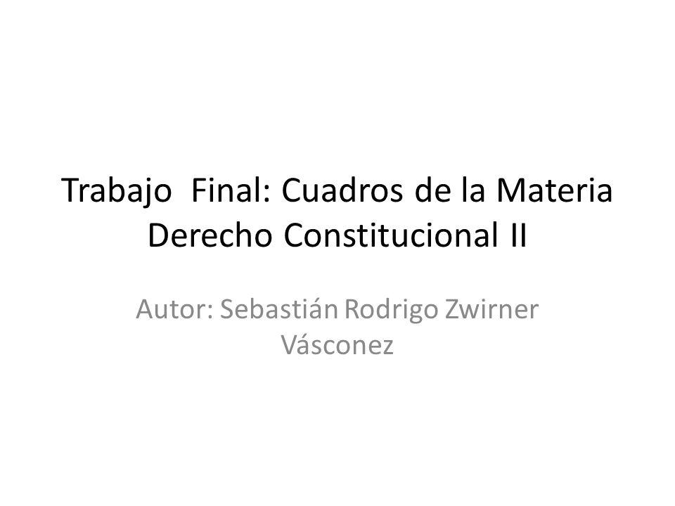 Trabajo Final: Cuadros de la Materia Derecho Constitucional II