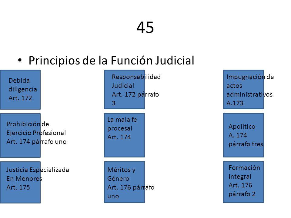 45 Principios de la Función Judicial Responsabilidad Judicial