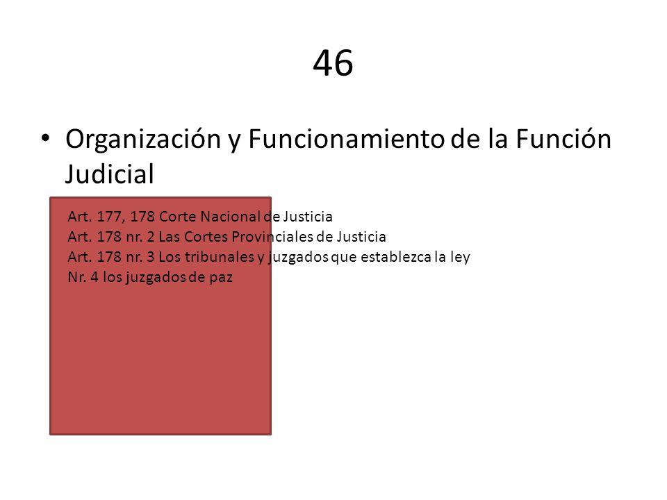 46 Organización y Funcionamiento de la Función Judicial