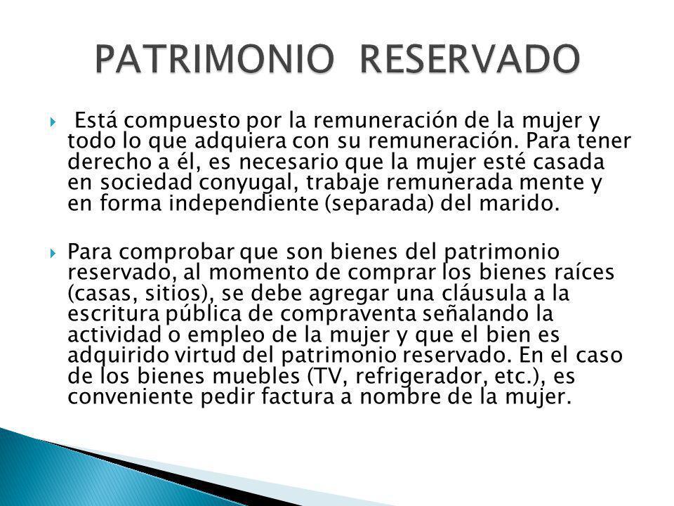 PATRIMONIO RESERVADO