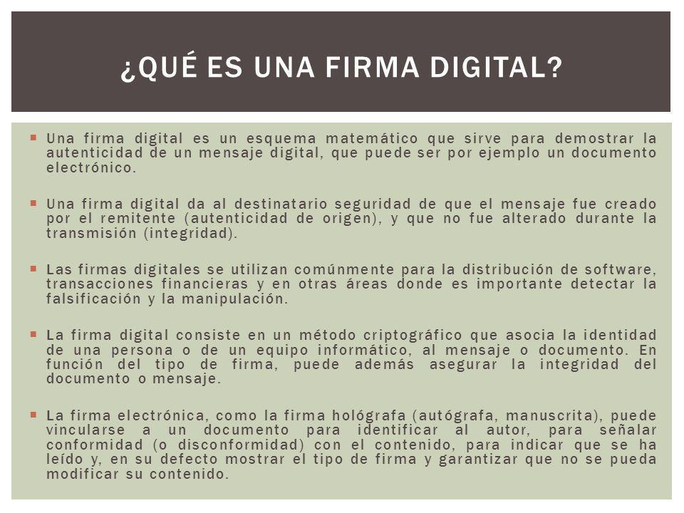 ¿Qué es una firma digital