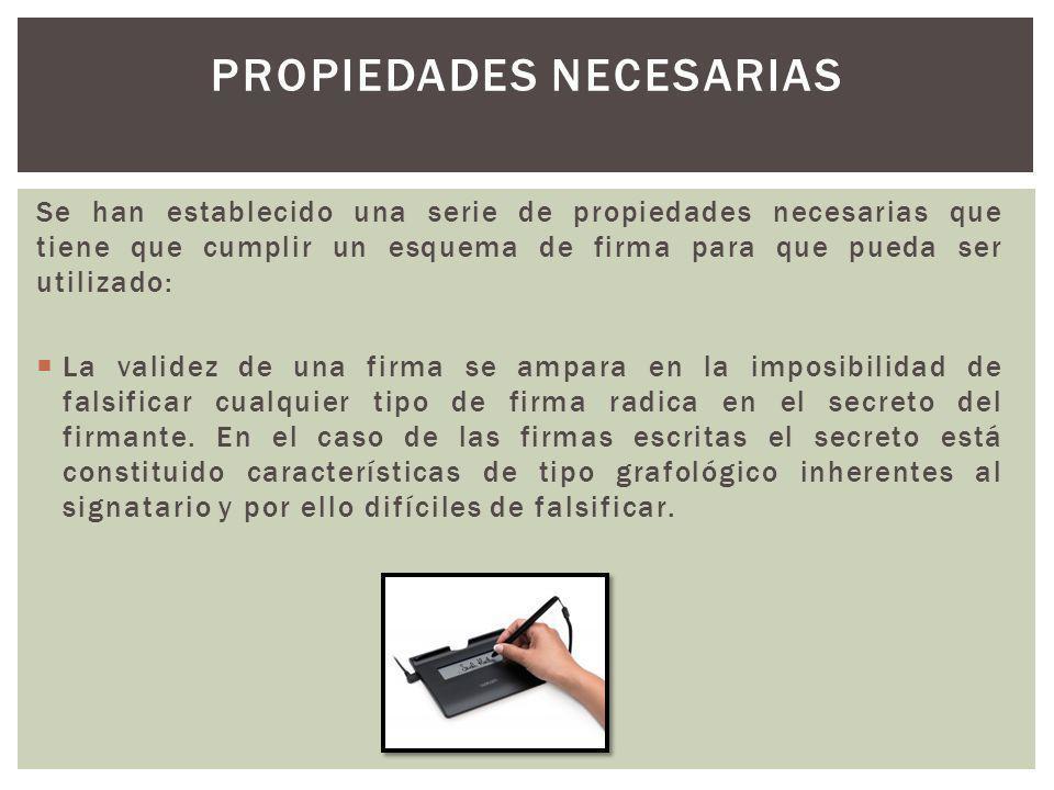 Propiedades necesarias