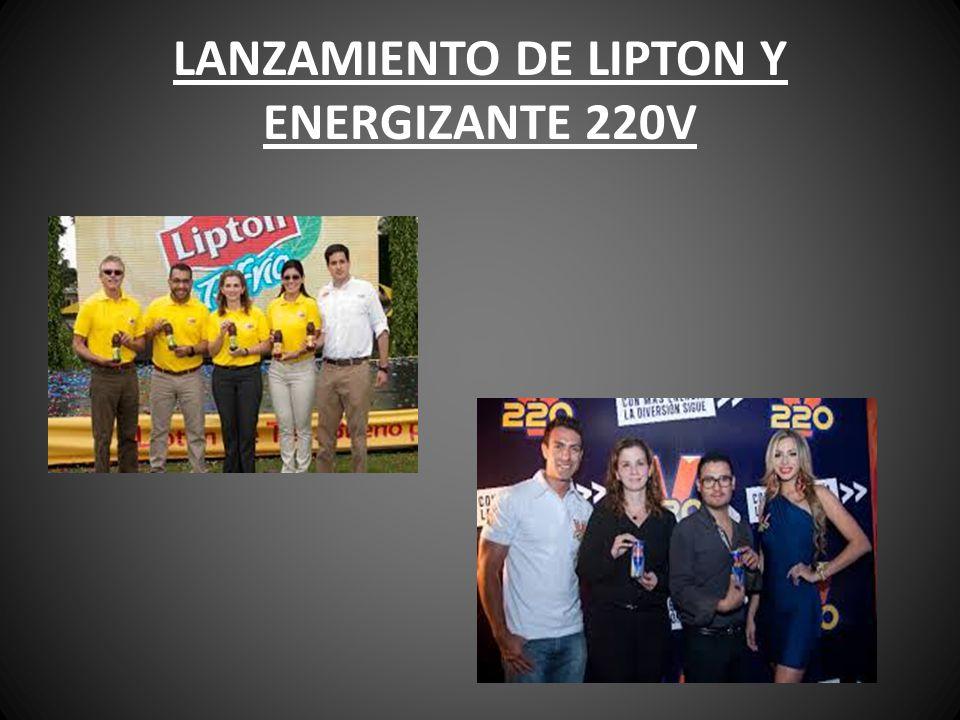 LANZAMIENTO DE LIPTON Y ENERGIZANTE 220V