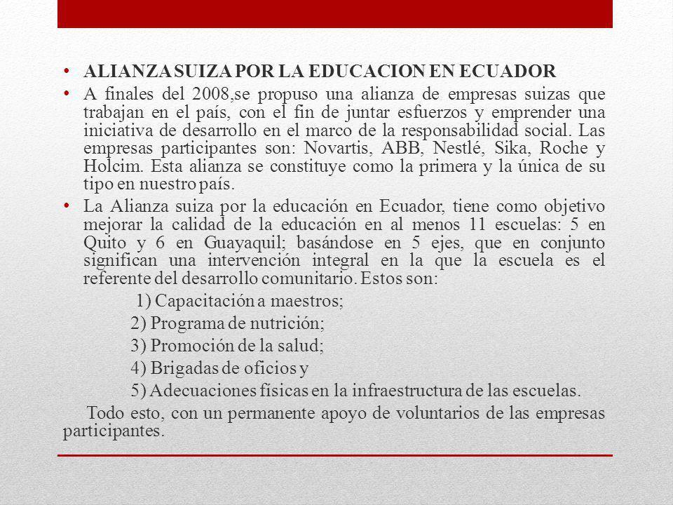 ALIANZA SUIZA POR LA EDUCACION EN ECUADOR