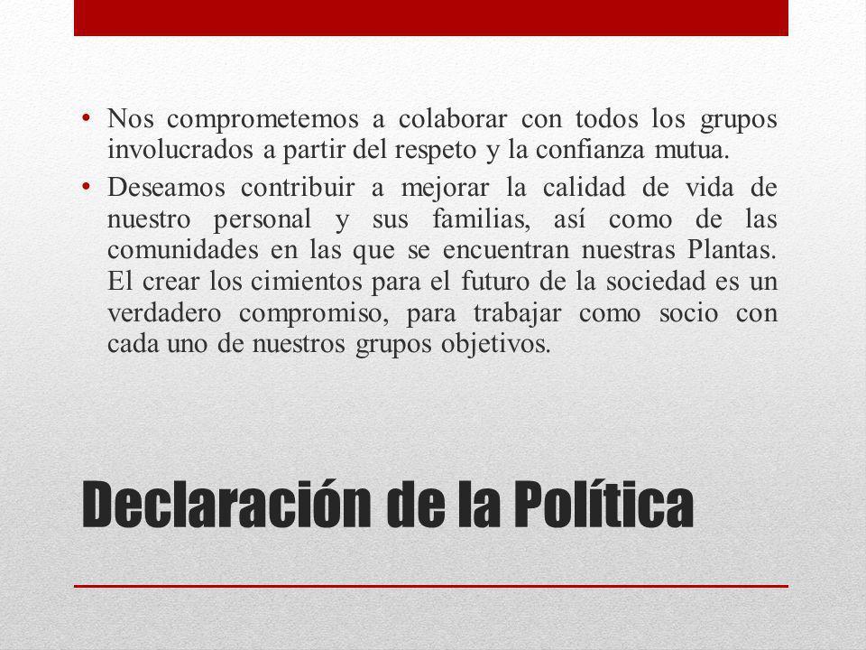 Declaración de la Política