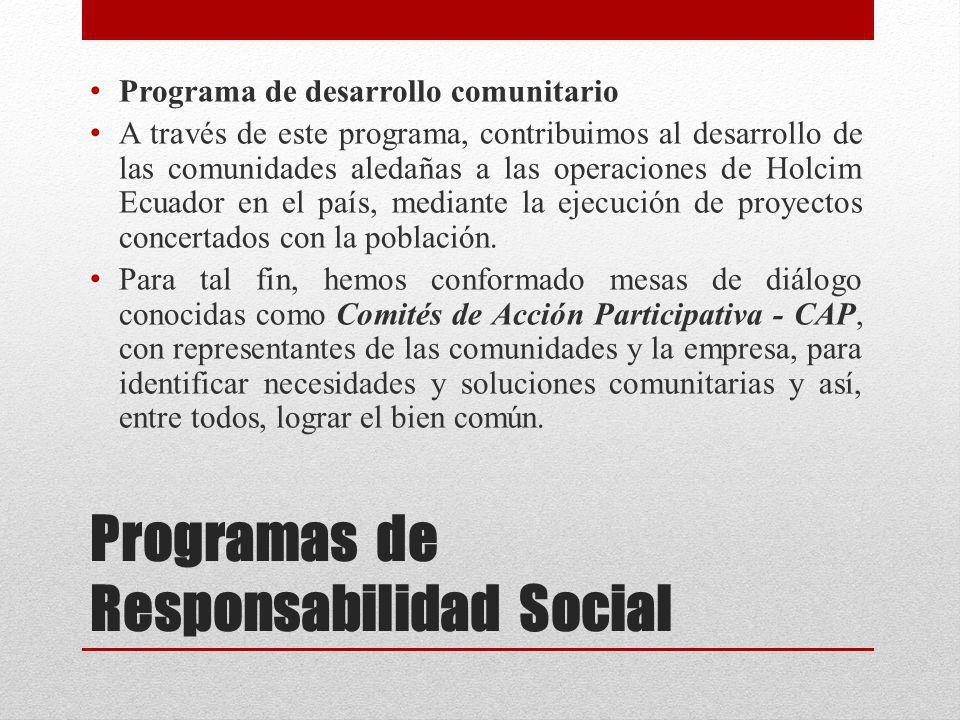 Programas de Responsabilidad Social