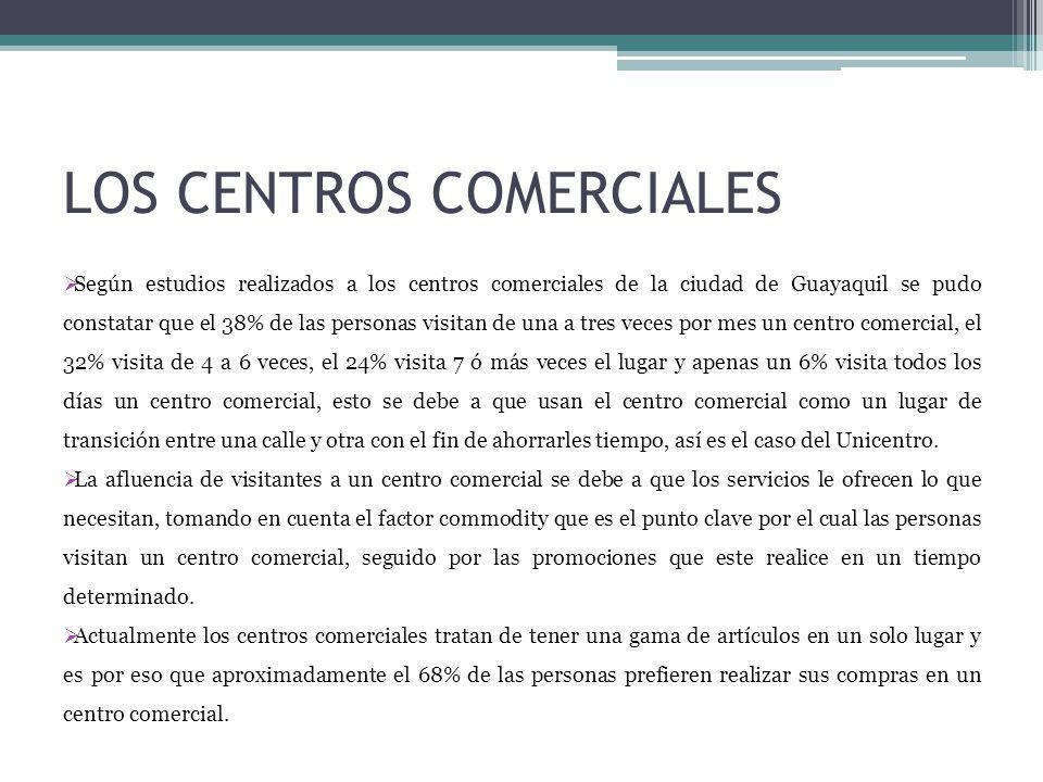 LOS CENTROS COMERCIALES