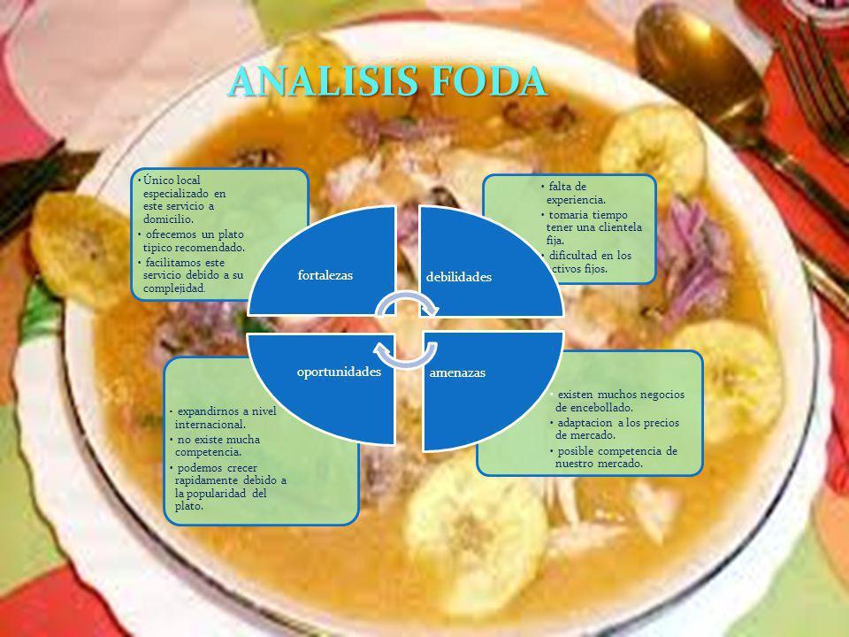ANALISIS FODA Único local especializado en este servicio a domicilio.