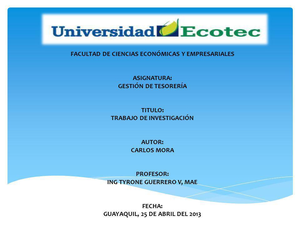 FACULTAD DE CIENCIAS ECONÓMICAS Y EMPRESARIALES ASIGNATURA: