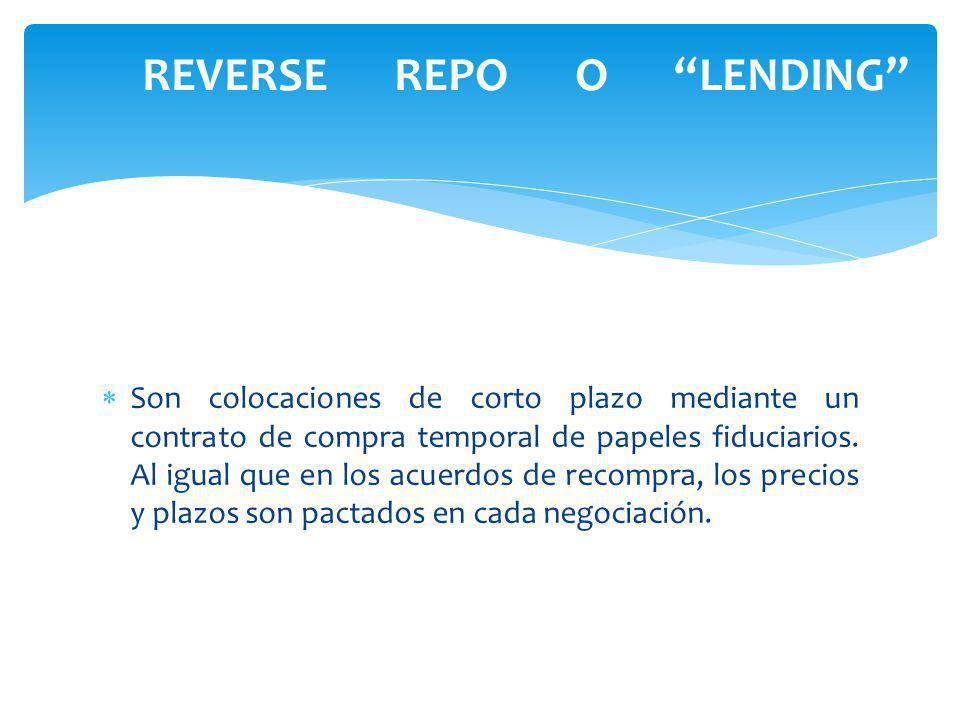 REVERSE REPO O LENDING