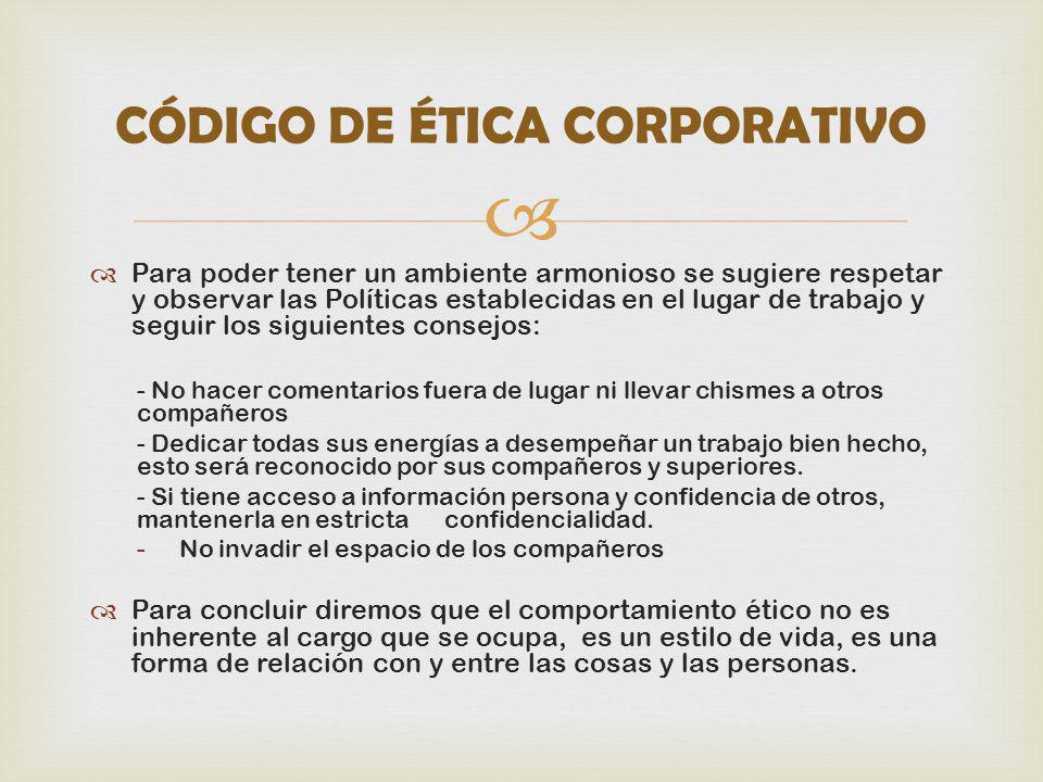 CÓDIGO DE ÉTICA CORPORATIVO