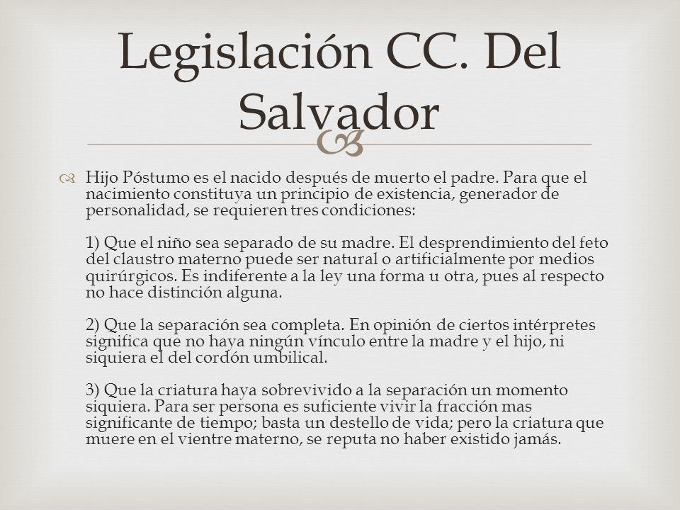 Legislación CC. Del Salvador