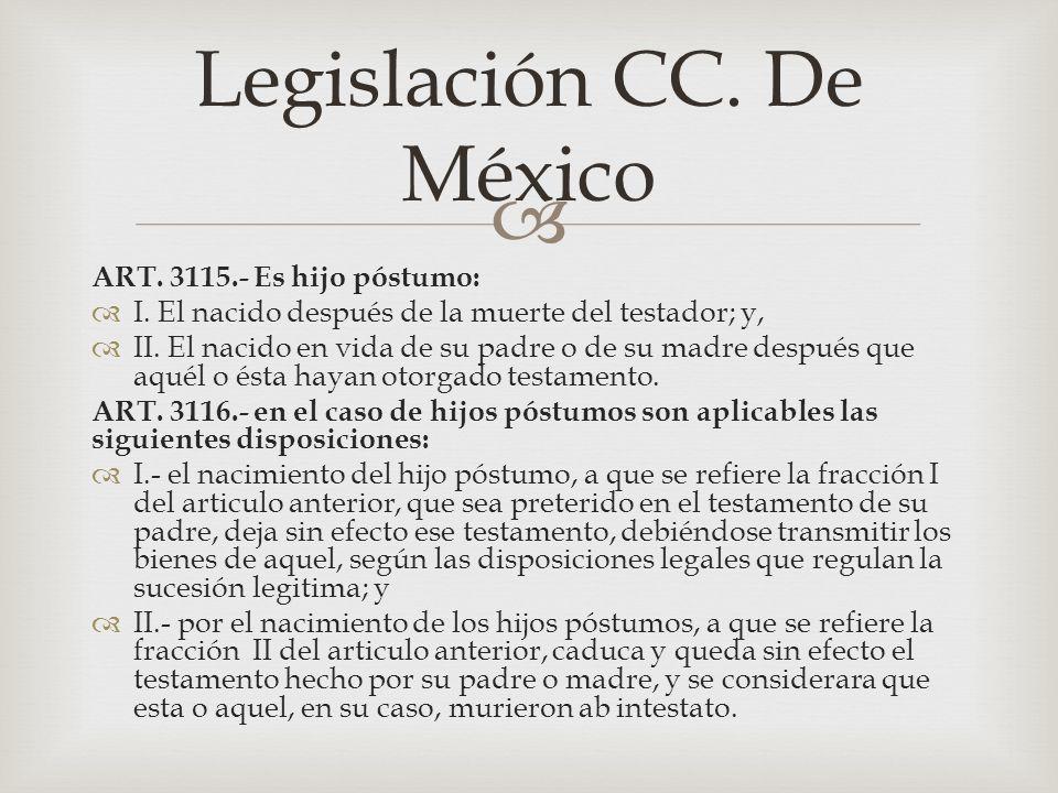 Legislación CC. De México