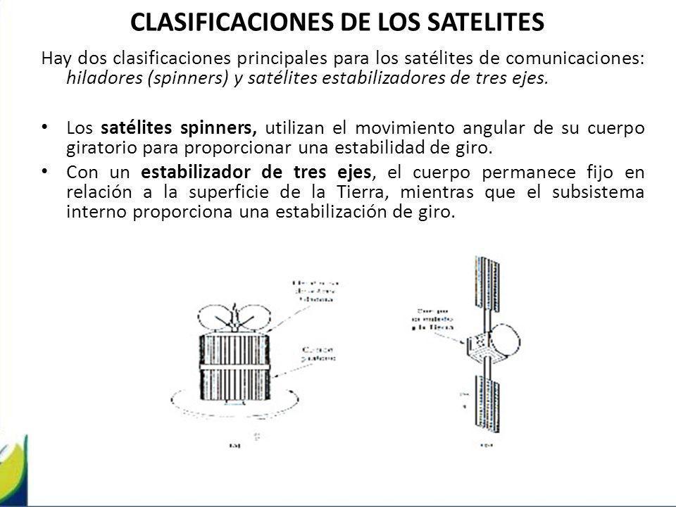 CLASIFICACIONES DE LOS SATELITES
