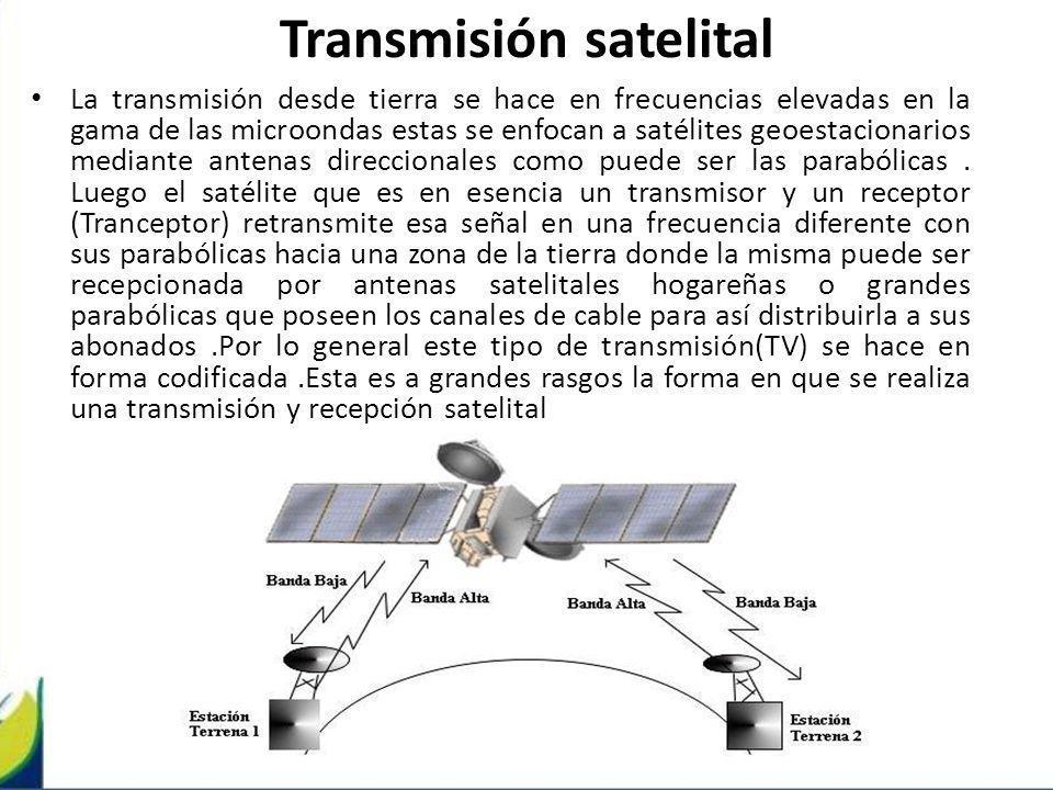 Transmisión satelital