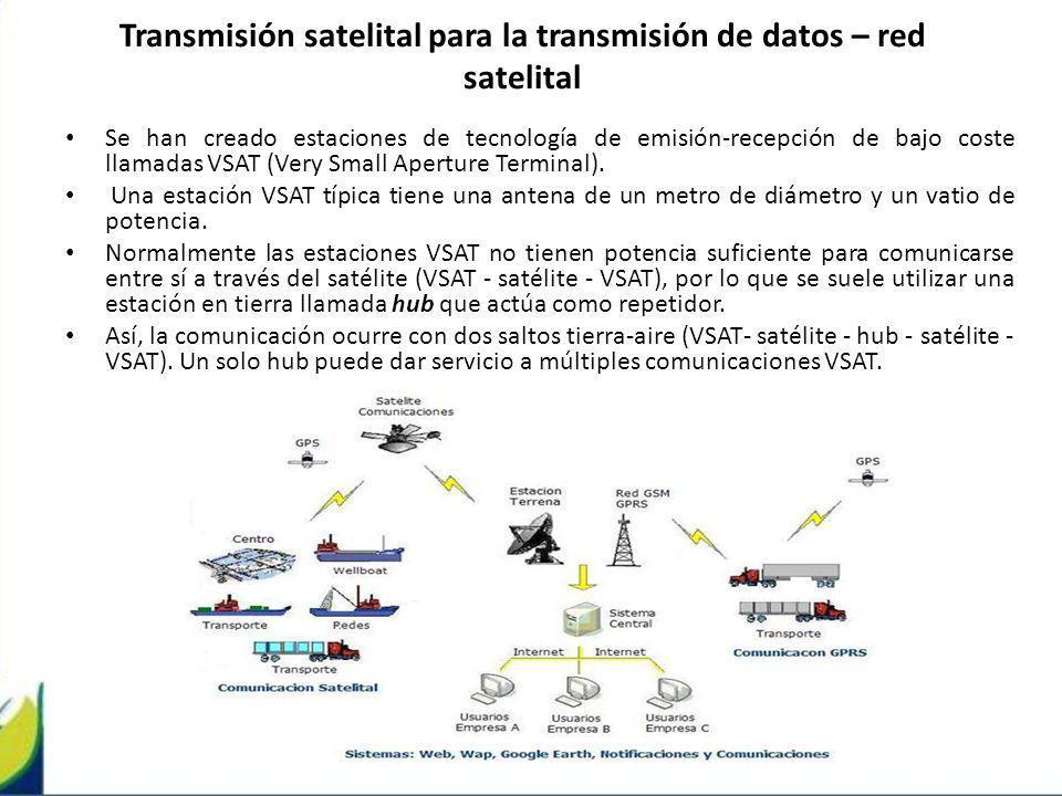 Transmisión satelital para la transmisión de datos – red satelital