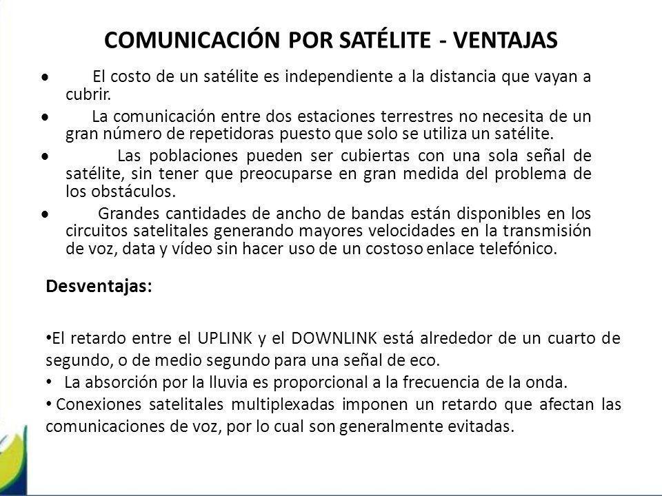 COMUNICACIÓN POR SATÉLITE - VENTAJAS