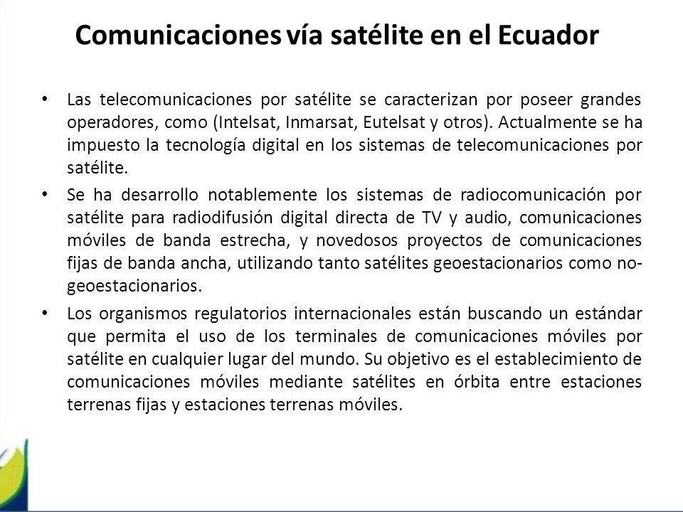 Comunicaciones vía satélite en el Ecuador