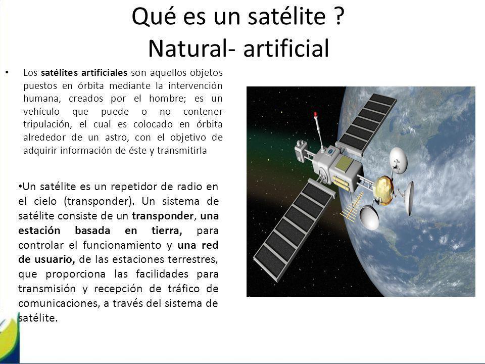 Qué es un satélite Natural- artificial