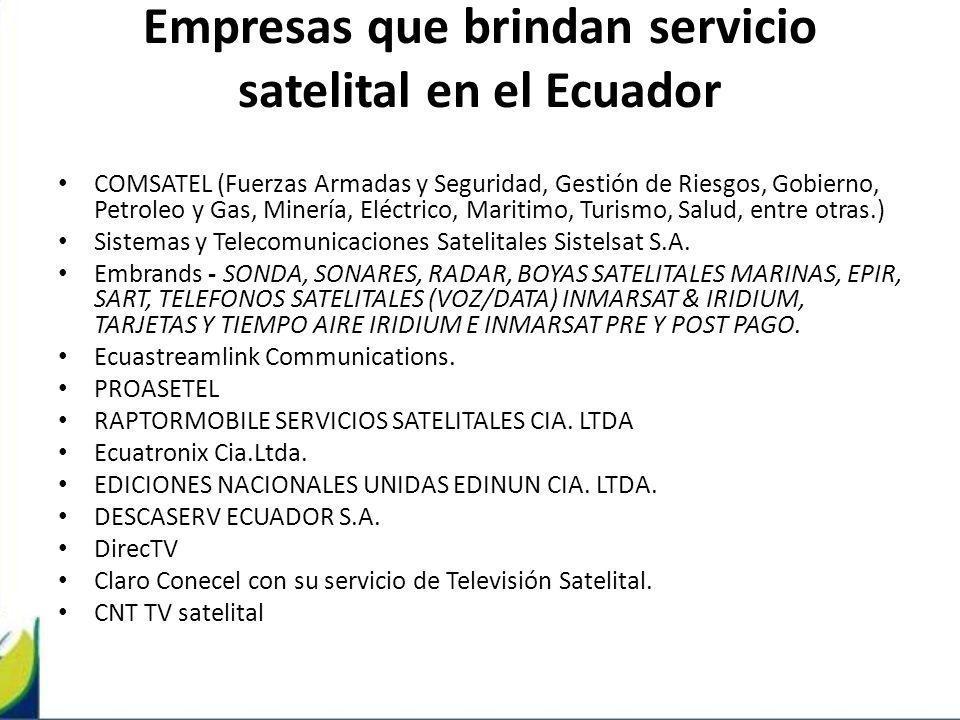 Empresas que brindan servicio satelital en el Ecuador