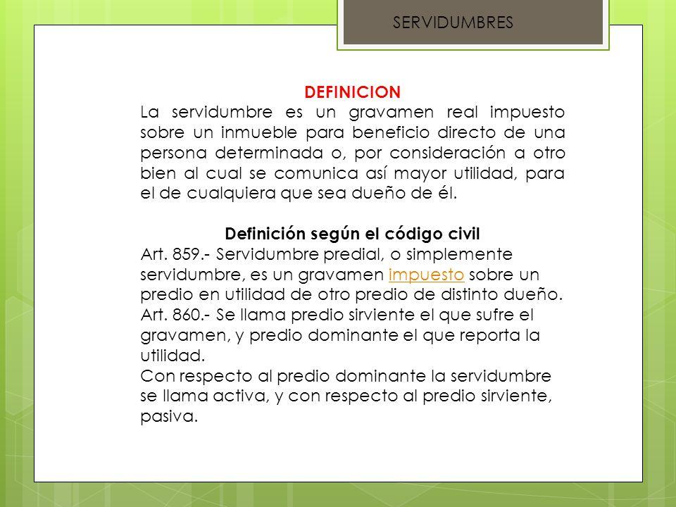 Definición según el código civil