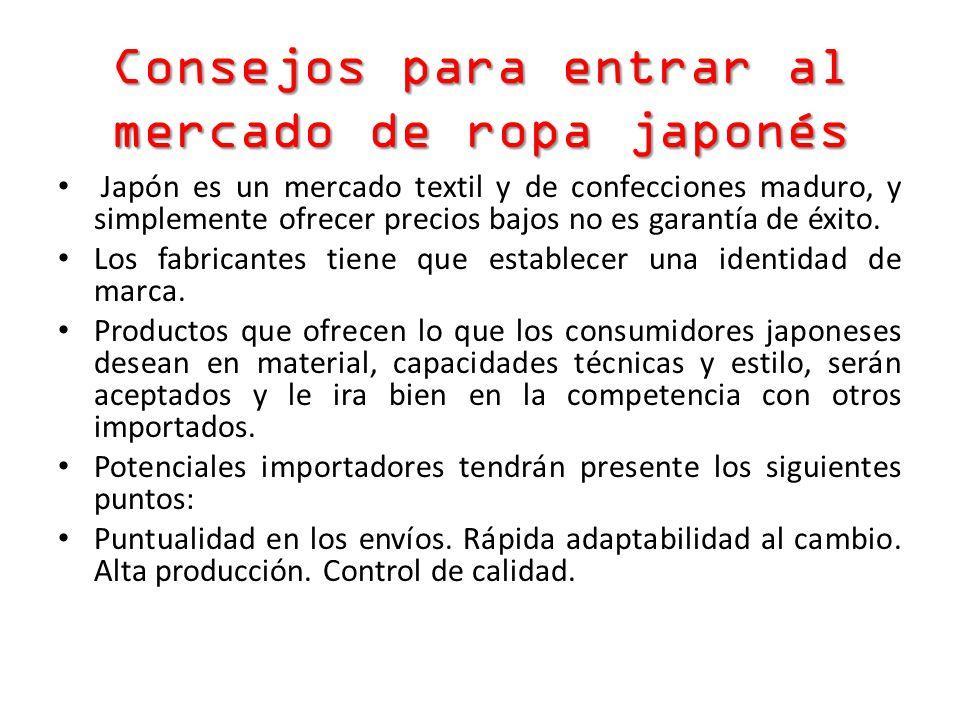 Consejos para entrar al mercado de ropa japonés