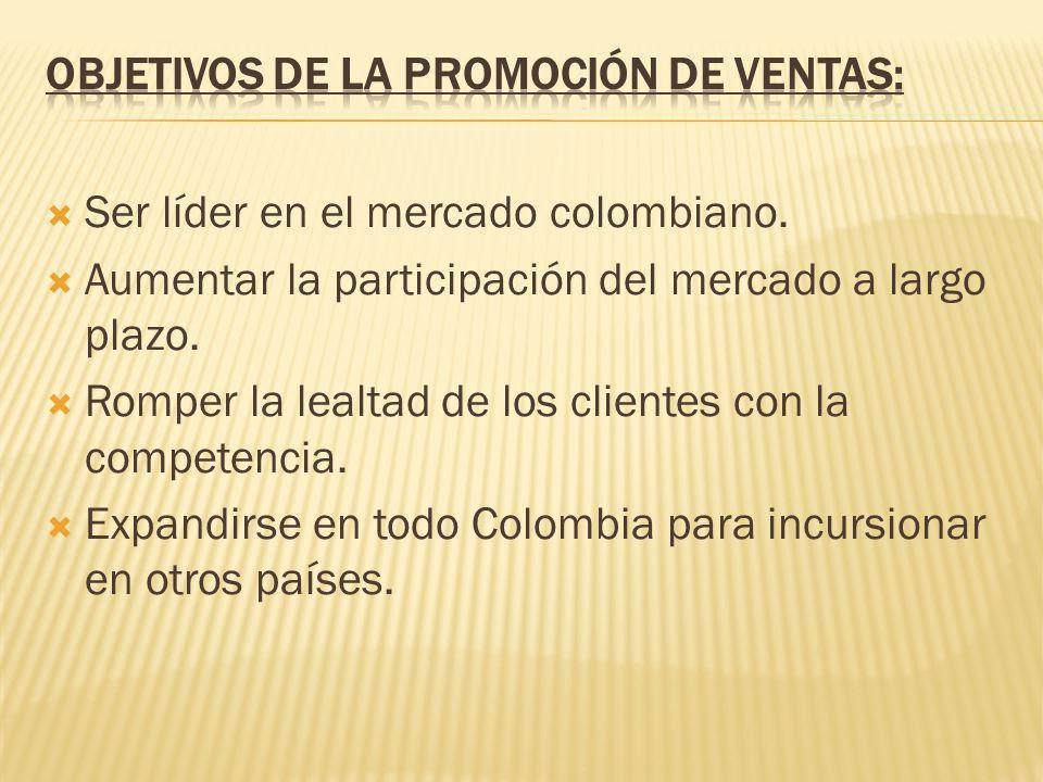 Objetivos de la promoción de ventas:
