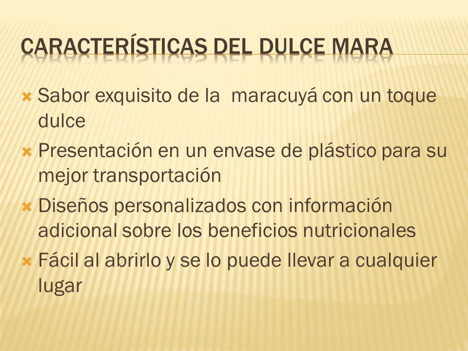 Características del dulce mara