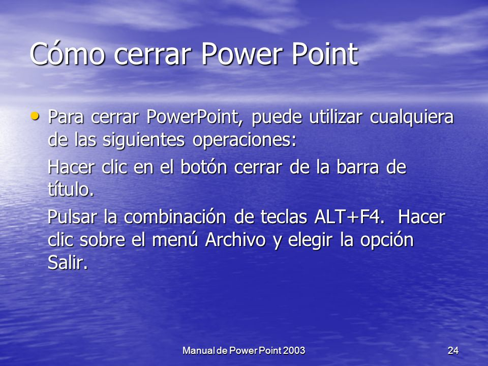 Cómo cerrar Power Point