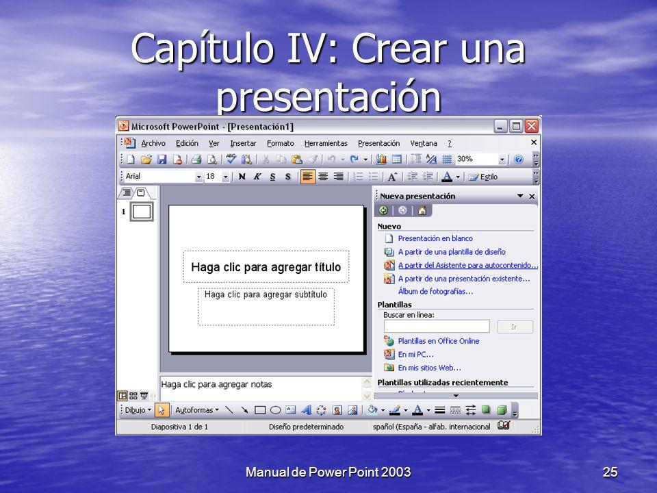 Capítulo IV: Crear una presentación