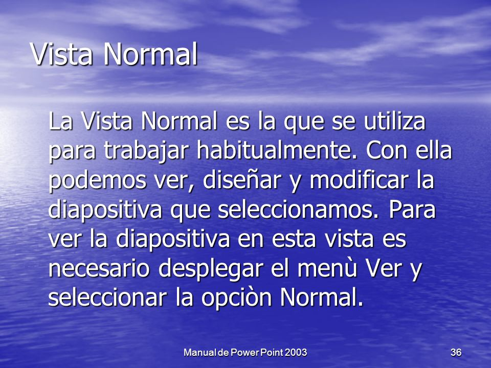 Vista Normal