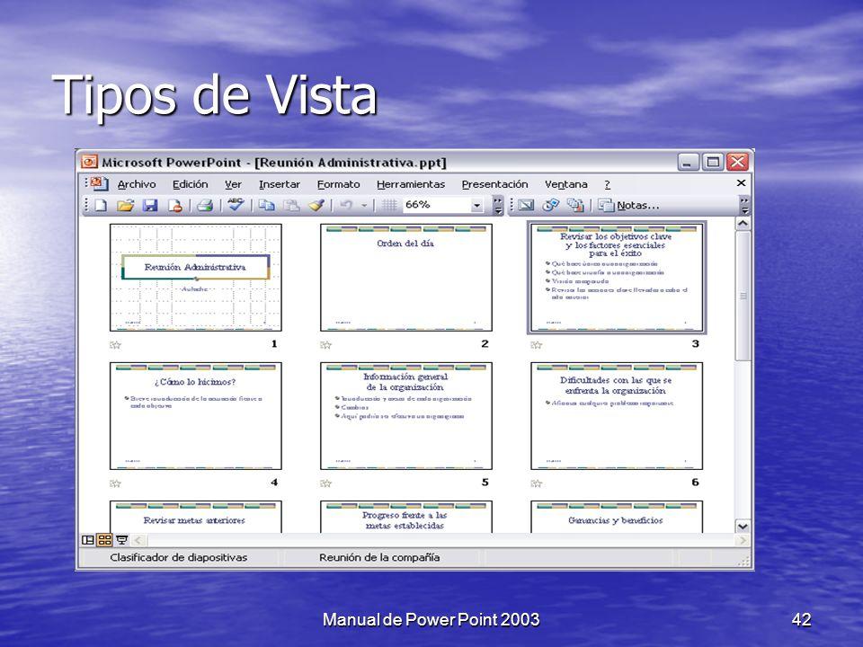 Tipos de Vista Manual de Power Point 2003