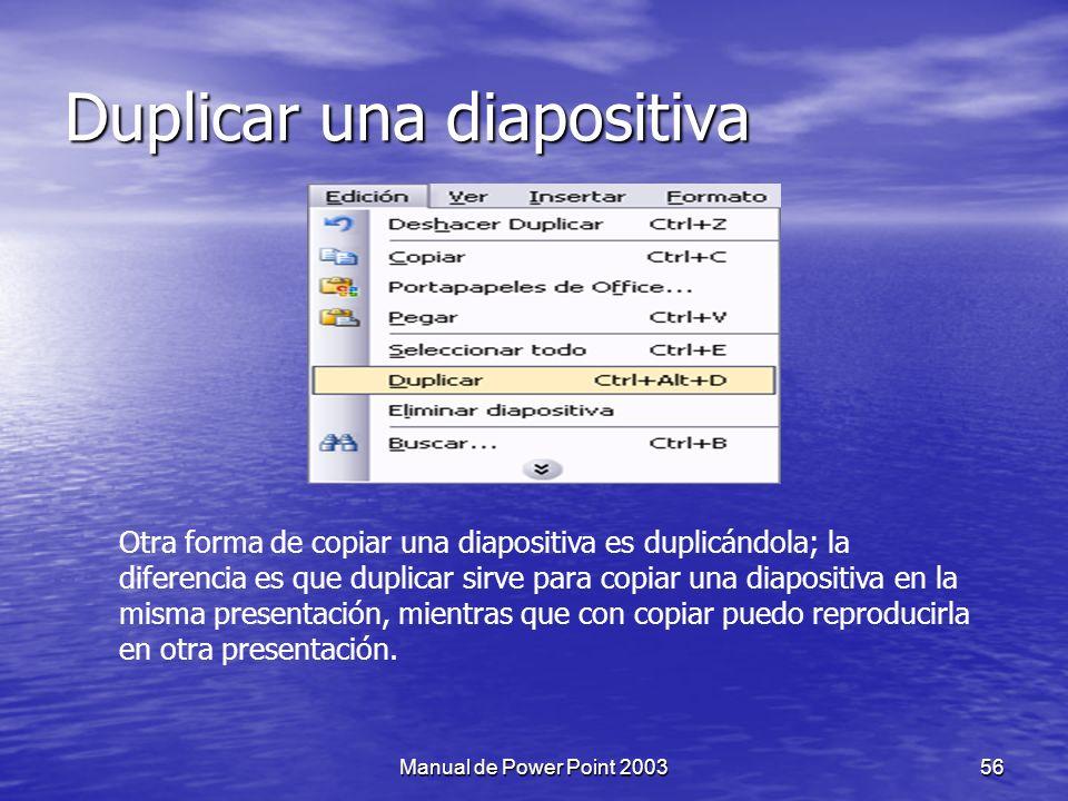 Duplicar una diapositiva