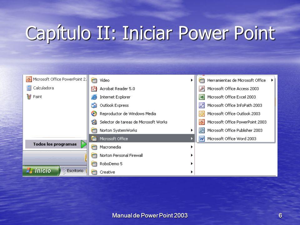 Capítulo II: Iniciar Power Point