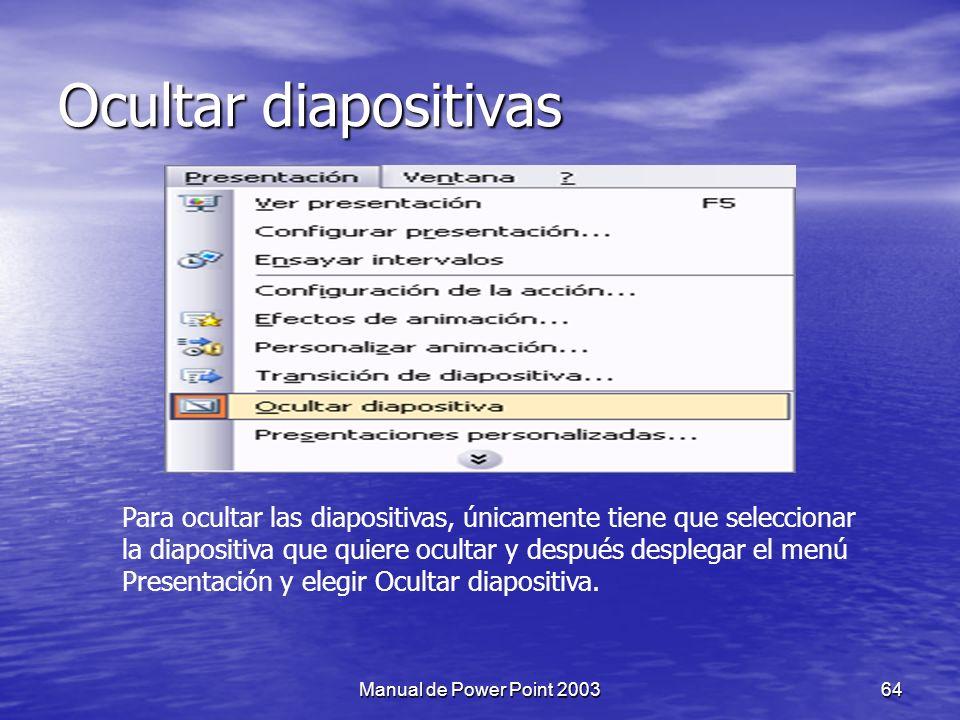 Ocultar diapositivas