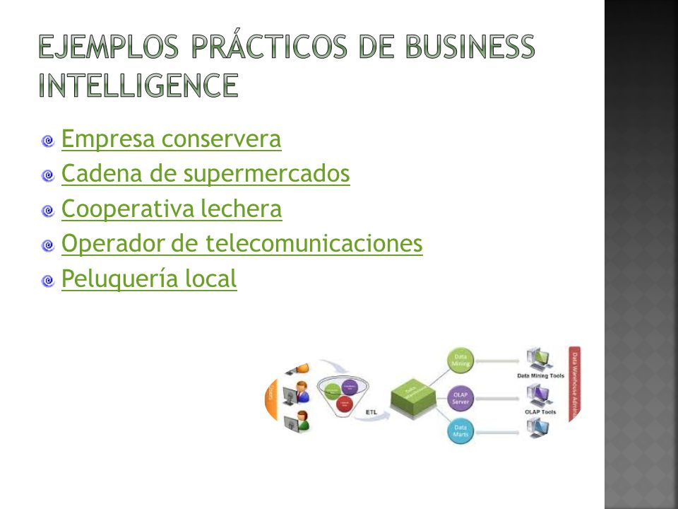 Ejemplos prácticos de Business Intelligence