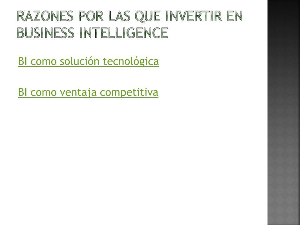 Razones por las que invertir en Business Intelligence