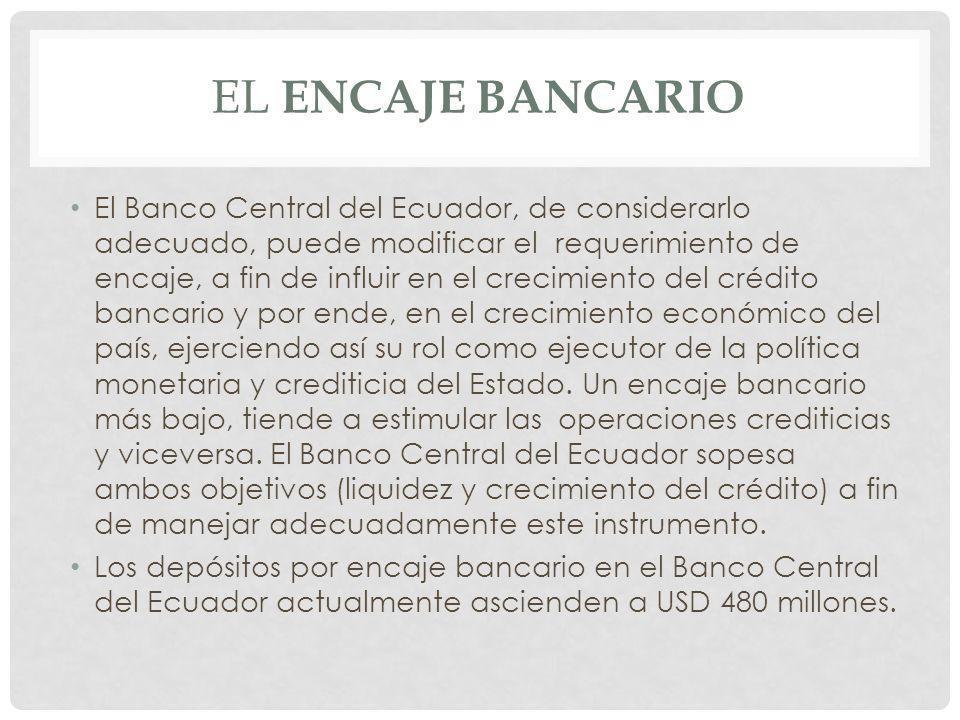 El encaje bancario