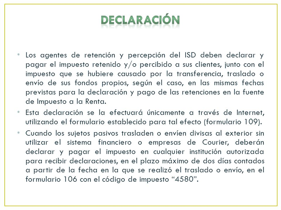 DECLARACIÓN