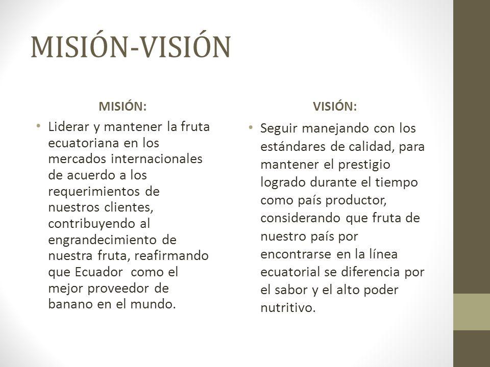 MISIÓN-VISIÓN MISIÓN: VISIÓN: