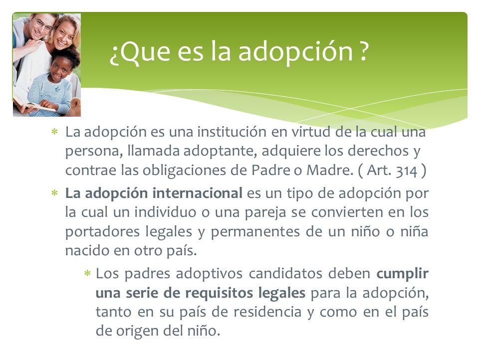 ¿Que es la adopción