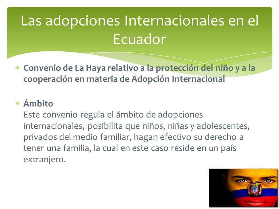 Las adopciones Internacionales en el Ecuador
