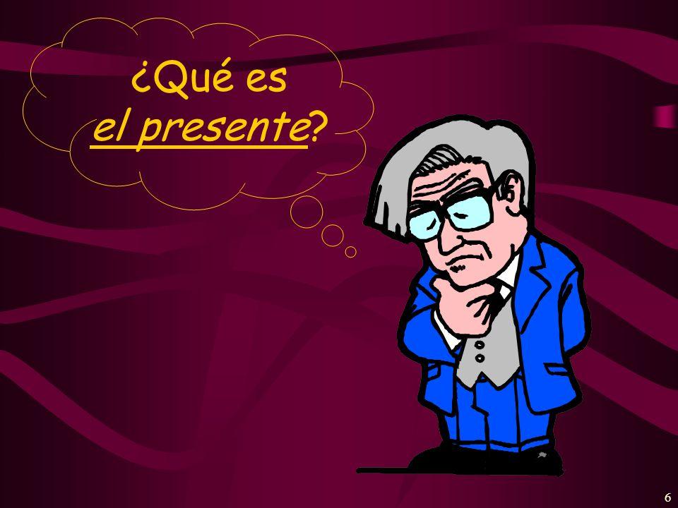 ¿Qué es el presente