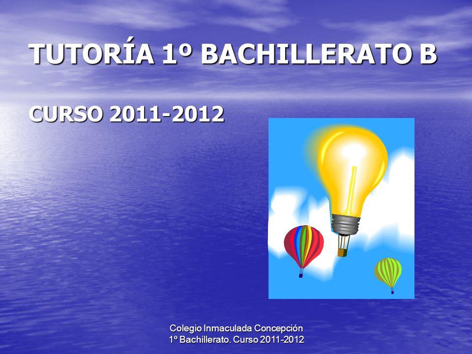 TUTORÍA 1º BACHILLERATO B