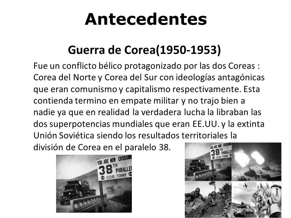 Antecedentes Guerra de Corea(1950-1953)