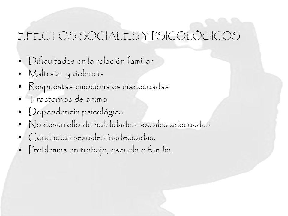 EFECTOS SOCIALES Y PSICOLÓGICOS