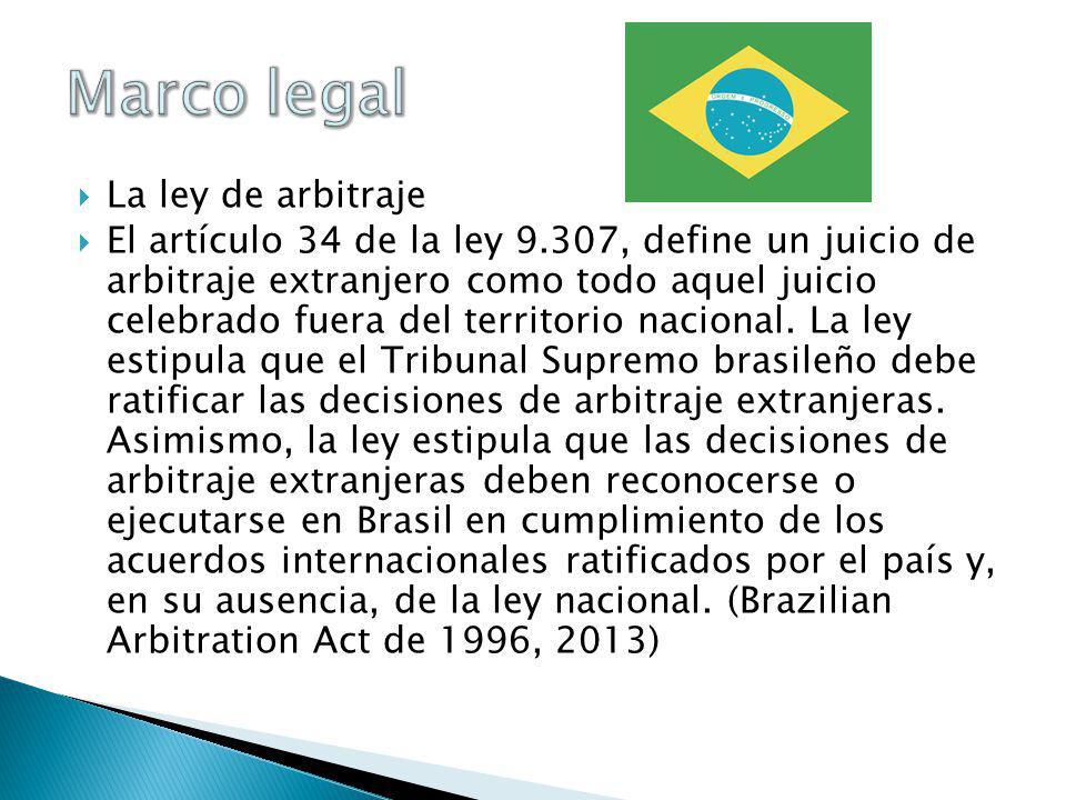 Marco legal La ley de arbitraje