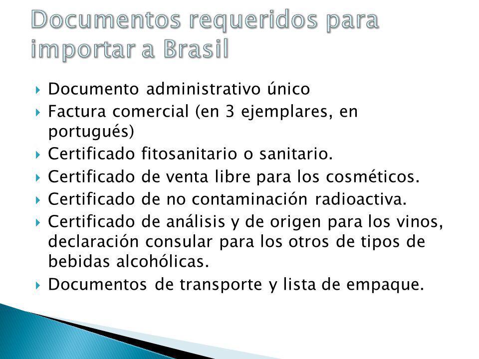 Documentos requeridos para importar a Brasil