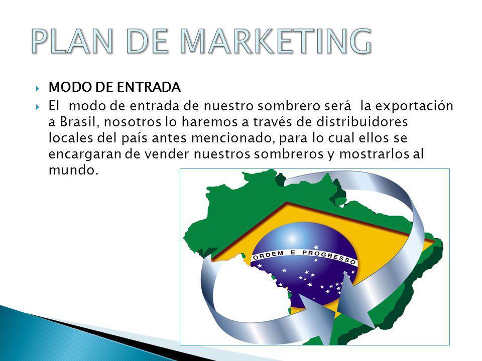 PLAN DE MARKETING MODO DE ENTRADA