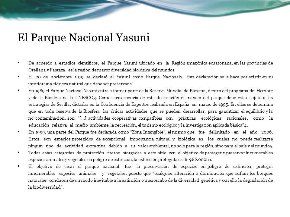 El Parque Nacional Yasuni